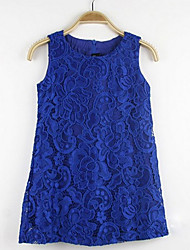 Girl's Jacquard Dress,Cotton Summer