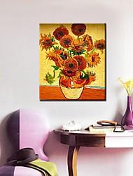Dien Zonnebloem Gedrukt Frameless Schilderijen 9076