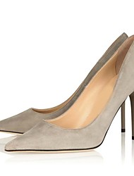 Suede Women's Stiletto Heel Pointed Toe Pumps/Heels Shoes