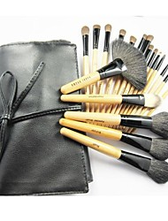 19Pcs High Grade Professional Cosmetic Makeup Brush Set with Free Leather Case