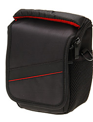 Mini New F029S-RD ein-Schulter-Kameratasche (schwarz + rot)