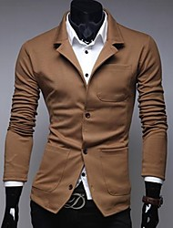Men's Long Sleeve Blazer , Others Casual