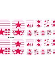 22PCS Bunte Red Star Zehennagel-Kunst-Aufkleber XJ Sery No.30