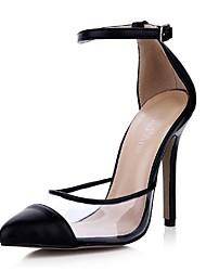 Chaussures Femme - Habillé - Noir - Talon Aiguille - Talons / Bout Pointu - Talons - Similicuir