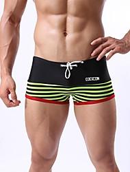 Homens Green Stripe Swimwear