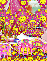 """Smiling Face"" Birthday Party Supplies - Set of 84 Pieces"