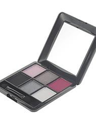 6 Sombra de Ojos Brillo / Mineral Paleta de sombra de ojos Polvo Normal
