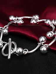 Alta qualidade original de prata Prata irregulares Beads pulseiras