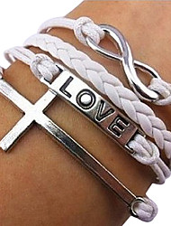 se pierda rose®8-Word Cross amor pulseras de moda