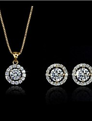 Jewelry-Necklaces / Earrings(Crystal / Alloy)Wedding / Party / Daily Wedding Gifts