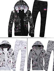 la mode masculine avec un slim ensemble sport hoodies de capot