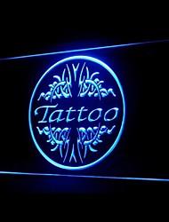 Tattoo Shop Bleu blanc d'os Orange Rouge Jaune Violet Vert Publicité LED Connexion