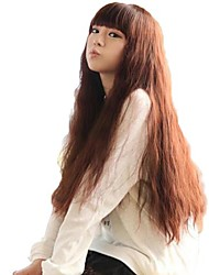 Fluffy Corn Curly Wigs Lady Fashion Synthetic Long Full Bang Wigs 3 Colors Available