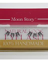 1 пара Pro Высокое качество, ручная синтетического волокна волос толщиной длинний Сплит Стиль Накладные ресницы