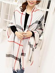 Women's Paisley Print Long Cotton&Silk Scarf