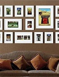 Frame Collection Colore Bianco Photo Wall Set di 16