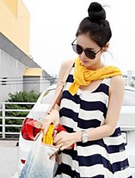 New Fashion 2014 Pregnant Maternity Clothing Striped Casual Loose Elegant Fancy One-piece Long Design Dress
