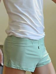 Homme Couleur Pleine Shorts & Slips GarçonCoton / Spandex