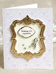 """Wishing You Happiness"" Lilac Side Fold Greeting Card for Mother's Day"