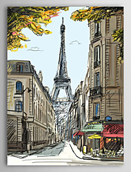 Stretched Canvas Print Art Landscape Abstract The Eiffel Tower