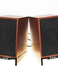 Music-F D-93 High Quality Stereo USB 2.0Multimedia Speaker  (Brown)