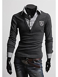 Men's Letter Badge Two Pieces Like POLO T-Shirt