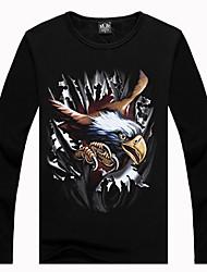 Men's 3D Condor Earth Print Fleece Lined T-shirt