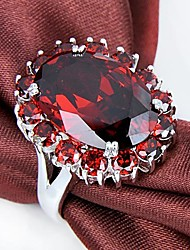 Claic Lady' Red Garnet Zircon Ring  1Pc