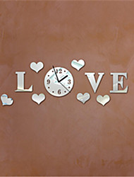 """8""""H Modern Style Forever Love Mirror Wall Clock"""