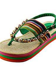 женская платформа пятки флип-флоп сандалии обувь (больше цветов)