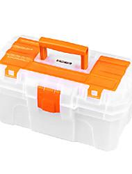 (41 * 23 * 20,5) plástico laranja Fivela caixas de ferramentas