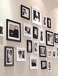 Cor Preto Photo Collection Frame Set de 23