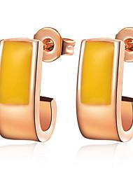 Persönliche vergoldet oder versilbert Champagne Frauen Ohrringe (weitere Farben)