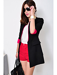 Corée Noir Style de CHAOLIU femmes Color Block Slim Fit Suit