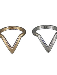 V shape fashion ring