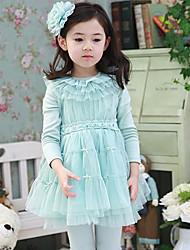 Três Cores Lindo vestido de renda da menina