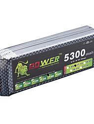 LION Power 11.1V 5300MAH 3S 40C Li-Po Battery(T Plug)