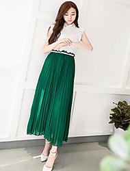 Mousseline de soie longue robe de OMLI femmes 8889