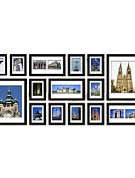 Frame Collection Nero Photo Wall Set di 15