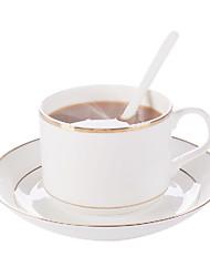 Balenciaga Coffee Mug with Plate, Set of 2 Porcelain 7oz