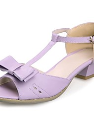 chunky talon t-spartiates des femmes avec des chaussures de bowknot (plus de couleurs)
