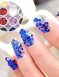 1PCS Hexagonal Glitter Tablets Nail Art Decorations NO.19-24(Assorted Colors)