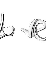 """Sweet """"LOVE"""" Argent Plaqué Silver Earring Femmes"""