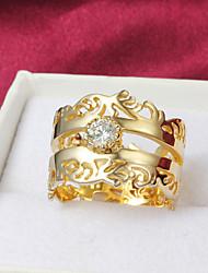 Высокое качество фантастическое Позолоченные ясно Rhinestone брызги Кольцо женщин