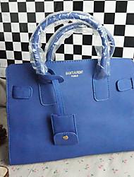 Лулу Женская Голубой корейский стиль нубук кожа Crossbody & Посланник Сумка