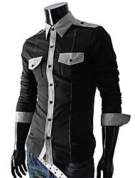 lesen Herrenmode personalisierte Tasche Abzeichen Casual Langarm Shirt o