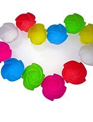 Forme de fleur de Rose Muffin Moules gâteau Moules, 12 pièces par Set, L 8cm x 8cm W x H 3cm, Random couleurs assorties