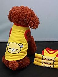 Camiseta para Perros Amarillo Verano XS / S / M / L / XL Algodón