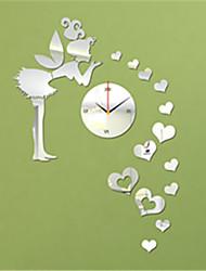 "24 ""H Modern Style Angle Heart-Shaped Spiegel Wanduhr"