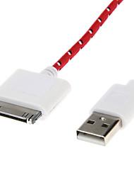 Weave Linie USB-2.0-Stecker auf 30-Pin Stecker für iPhone4/4s (3,0 m)